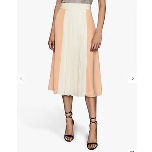 Reiss Abigail Midi Pleated Skirt size 2